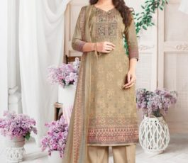 Rakhi Fashions Golden Wings Pure Viscose Modal Embroidery Sequence With Digital Print Salwar Suit 803-A