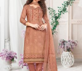 Rakhi Fashions Golden Wings Pure Viscose Modal Embroidery Sequence With Digital Print Salwar Suit 804-A