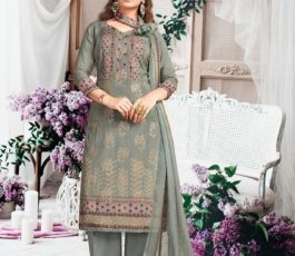 Rakhi Fashions Golden Wings Pure Viscose Modal Embroidery Sequence With Digital Print Salwar Suit 804-B