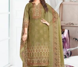 Rakhi Fashions Golden Wings Pure Viscose Modal Embroidery Sequence With Digital Print Salwar Suit 806-A