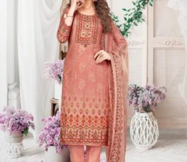 Rakhi Fashions Golden Wings Pure Viscose Modal Embroidery Sequence With Digital Print Salwar Suit 806-B