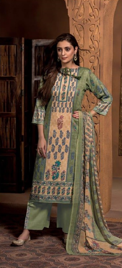 Rivaa Presents Simran Cotton Satin Printed Untitched Salwar Kameez Salwar Suit 1433 A