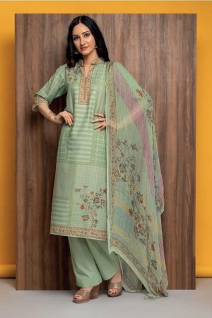 Rivaa Presents Susy Pure Masleen Printed Unstitched Salwar Suit 1677