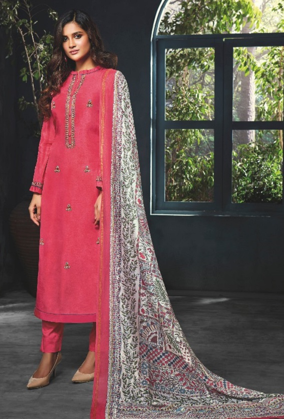 Sahiba Esta Presents Amaya Pure Russian Silk With Gotta Jardozi HandWork Salwar Suit 10