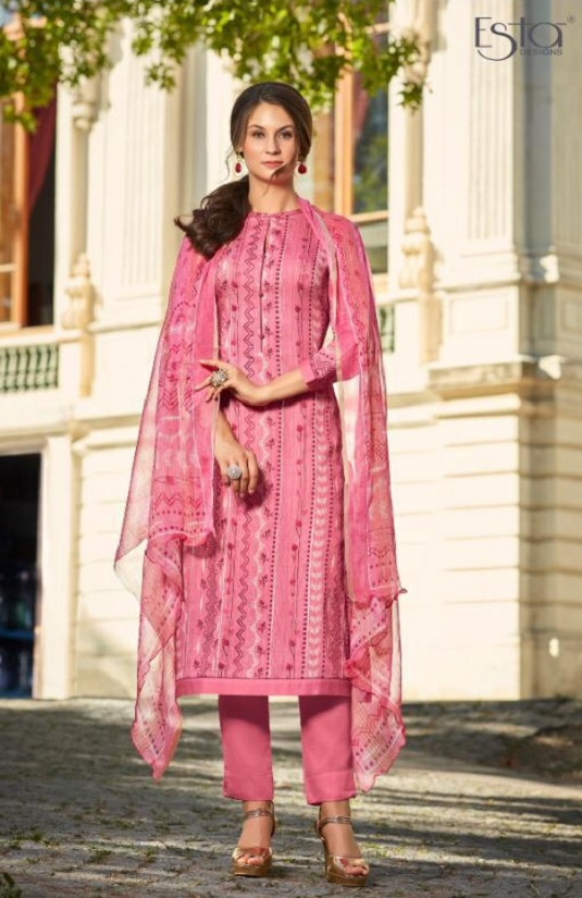 Sahiba Esta Presents Drizzling Digital Printed Cotton Satin With Gotta Work Salwar Suit 1009