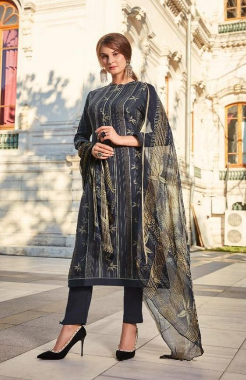 Sahiba Esta Presents Drizzling Digital Printed Cotton Satin With Gotta Work Suit 1003