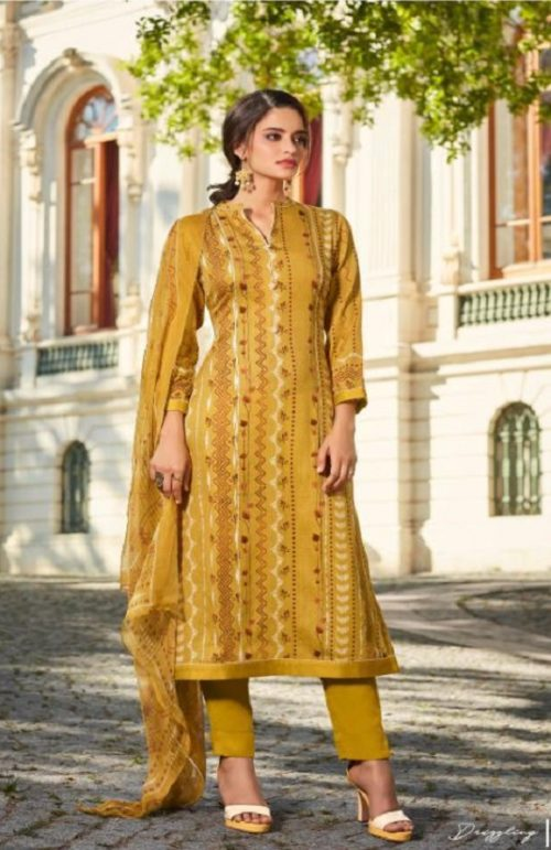 Sahiba Esta Presents Drizzling Digital Printed Cotton Satin With Gotta Work Suit 1006