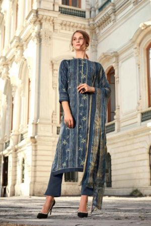 Sahiba Esta Presents Drizzling Digital Printed Cotton Satin With Gotta Work Suit 1010