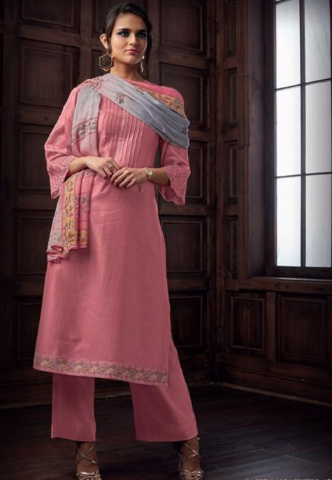 Sahiba Majestic Pure Chanderi Front Back With Pure Chanderi Embroidery Work Salwar Suit 714