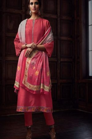Sahiba Majestic Pure Chanderi Front Back With Pure Chanderi Embroidery Work Salwar Suit 728