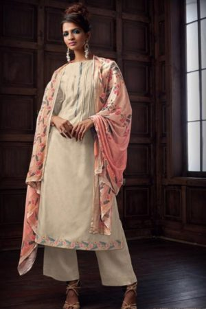 Sahiba Majestic Pure Chanderi Front Back With Pure Chanderi Embroidery Work Salwar Suit 756
