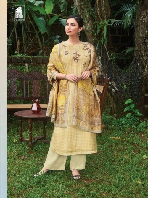 Sahiba Presents Ornate Cotton Silk Digital Print With Handwork Salwar Suit ORN 2012