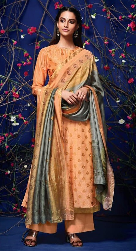 Sahiba Presents Rehnuma Russian Silk Gicha Work Salwar Suit 199