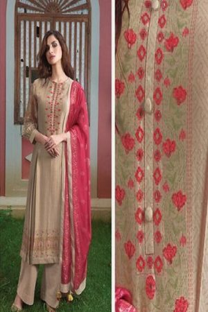 Sahiba Sarg Surmayi Chanderi Digital Print With Hand Work Salwar Suits 1919