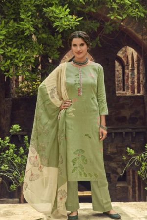 Shahnaz Arts Presents Amora Pure Glace Cotton With Embroidery Work Salwar Suit 9009