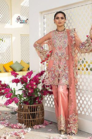 Shree Fabs Crimson Bridal Collection vol 2 Heavy Butterfly Net With Heavy Embroidery and Handwork Suit 8162