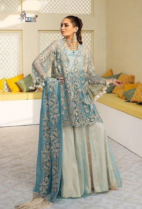 Shree Fabs Crimson Bridal Collection vol 2 Heavy Butterfly Net With Heavy Embroidery and Handwork Suit 8166