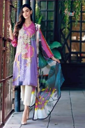 Shree Fabs Presents Charisma Aniq Collection Pure Cotton Print With Embroidery Salwar Suit 3117