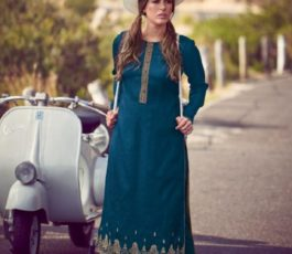 Varsha Fashions Presents The Carnival Collection Tussar Silk Weave With Embroidery Salwar Suit TC-25
