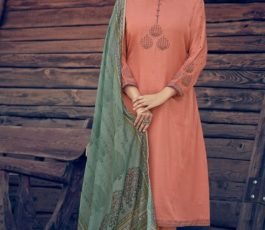 Varsha Fashions Presents Tree Of Life 2 Tussar Silk With Detailed Cording Embroidery Salwar Suit TL-105