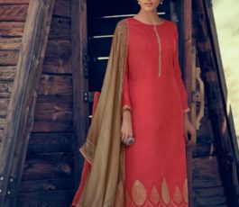 Varsha Fashions Presents Tree Of Life 2 Tussar Silk With Detailed Cording Embroidery Salwar Suit TL-106