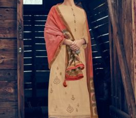 Varsha Fashions Presents Tree Of Life 2 Tussar Silk With Detailed Cording Embroidery Salwar Suit TL-101