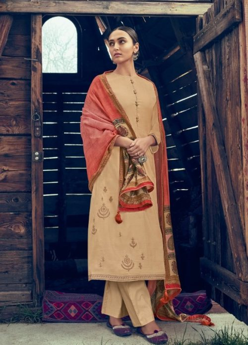 Varsha Fashions Presents Tree Of Life 2 Tussar Silk With Detaild Cording Embroidery Salwar Suit tl-101