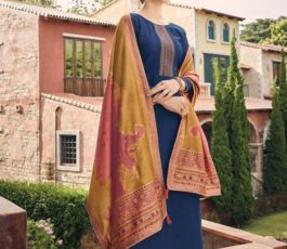 Vidhushi Suits Presents Handweave Pure Viscose Muslin Silk With Embroidery Salwar Suit 1002