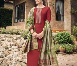 Vidhushi Suits Presents Handweave Pure Viscose Muslin Silk With Embroidery Salwar Suit 1004