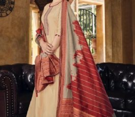 Vidhushi Suits Presents Handweave Pure Viscose Muslin Silk With Embroidery Salwar Suit 1005