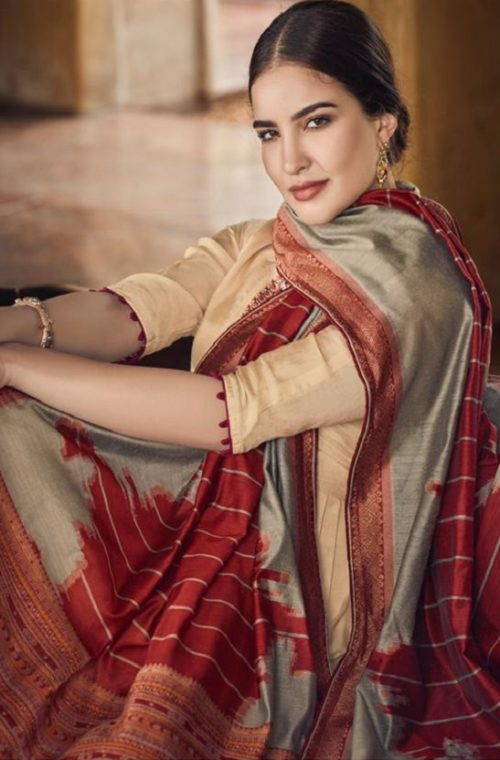 Vidhushi Suits Presents Handweave Pure Viscose Muslin Silk With Embroidery Salwar Suits 1005