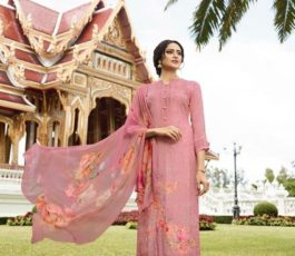 Vivek Fashions Presents Jaanisa Pure Maslin Silk Digital Print With Cross Stitch Embroidery Work Suit 9505