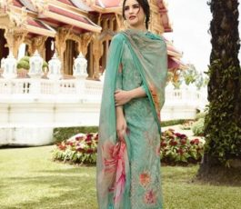 Vivek Fashions Presents Jaanisa Pure Maslin Silk Digital Print With Cross Stitch Embroidery Work Suit 9501