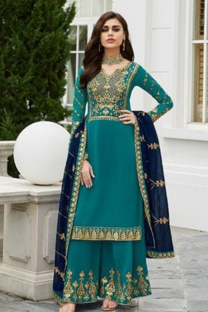 Aashirwad Presents Mor Bagh Gota Pati Real Georgette With Embroidery Work Partywear Suit 7029
