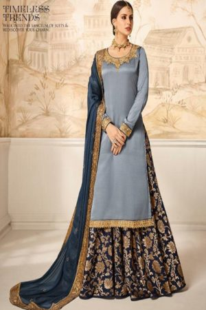 Amirah Banaras Vol 5 Modal Satin Silk With Embroidery Work and Hand Work Sharara Suits 12074
