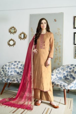 Bela Fashion Presents Jasba Viscose Muslin Embroidery Work Salwar Suit 811