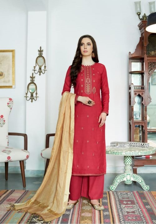 Bela Fashion Presents Jasba Viscose Muslin Embroidery Work Salwar Suit 816