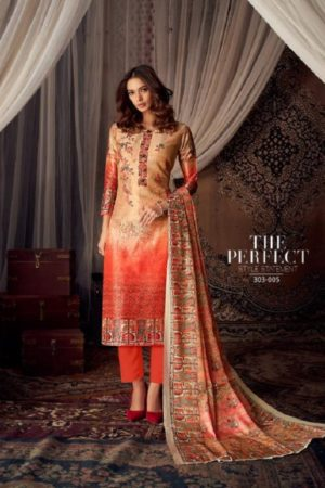 Belliza Designer Studio Moroccan Silk Pure Silk With Fancy Heavy Embroidery Salwar Suit 303-005