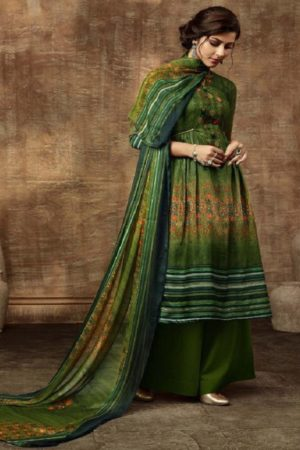 Buy Belliza Designer Studio Olivia Pure Pashmina Digital Style Printed With Fancy Embroidery Work Salwar Suit For Winters 331-003