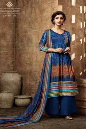 Buy Belliza Designer Studio Olivia Pure Pashmina Digital Style Printed With Fancy Embroidery Work Salwar Suit For Winters 331-005