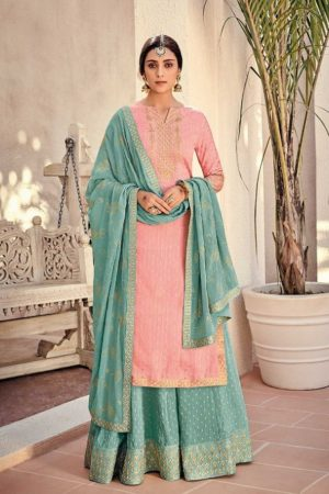 Buy Kimora Vol 10 Pure Silk Banarasi Buti With Embroidery Salwar Suit K-1003