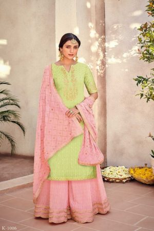 Buy Kimora Vol 10 Pure Silk Banarasi Buti With Embroidery Salwar Suit K-1006