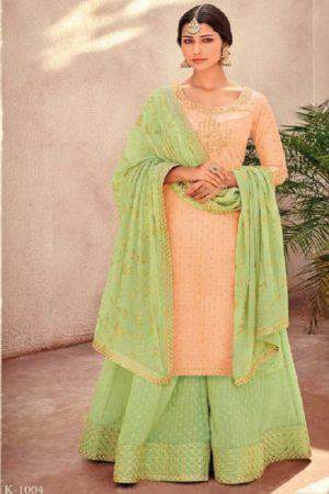 Buy Kimora Vol 10 Pure Silk Banarasi Buti With Embroidery Salwar Suits K-1004