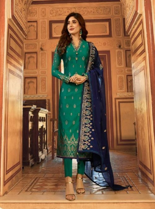 Fiona Kritika Jacquard With Work Partywear Designer Suit 22436