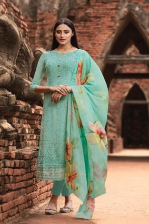 Fiona Presents Mannat Pure Georgette With Lacknavi Embroidery and Gotta Pati Border Salwar Suit 22593