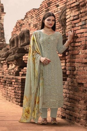 Fiona Presents Mannat Pure Georgette With Lacknavi Embroidery and Gotta Pati Border Salwar Suit 22594