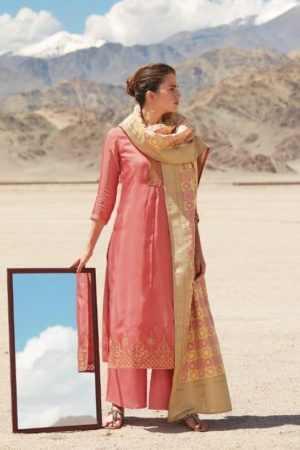 Ganga Reflection Of You And Me Pure Habutai Silk Solid With Embroidery Work Salwar Suit 7916