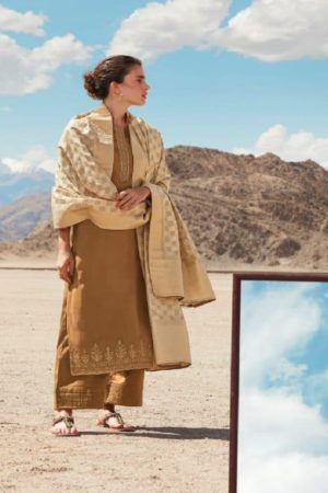 Ganga Reflection Of You And Me Pure Habutai Silk Solid With Embroidery Work Salwar Suit 7918