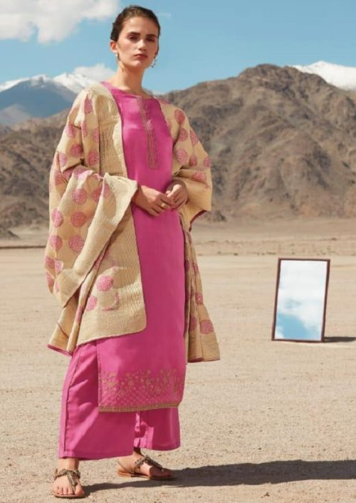 Ganga Reflection Of You And Me Pure Habutai Silk Solid With Embroidery Work Salwar Suit 7919
