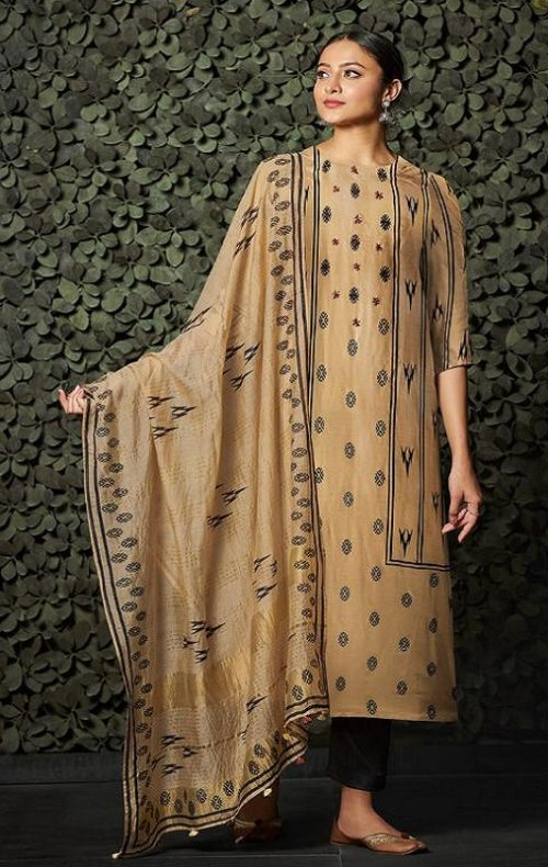 JayVijay Presents Aylin 1 Bemberg Moga Silk Print With Handwork Salwar Suit 4842